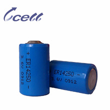 1/2AA 3.6V 800mAh ER14250M lifepo4 battery pack