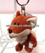 mini plush fox keychain stuffed keychain