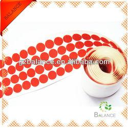 DIY craft Hook and Loop 20mm round red color super glue