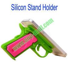 Gun Style Silicone Sucker Stand Holder for iPad Mini/iPhone5/Samsung Galaxy S4, etc