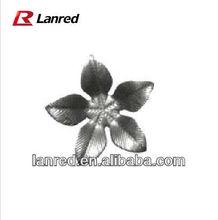 Metal Fine Lines Five Petals Flower Ornaments