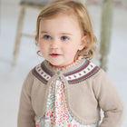 davebella 2013 autumn new baby shawl for girl knitted wear DB400