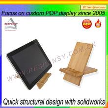 Wood/ Bamboo Display Stand/ Display Rack Display Holder for Ipad mini Ipad 3 Ipad 4 Ipad 4