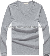Top selling factory produces European style man's loose fit long sleeve t shirt