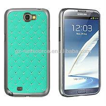 Samsung GALAXY NOTE 2 N7100 CASE TEAL DIAMOND CHROME PHONE BUMPER COVER