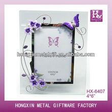 HX-6407 Delicate butterfly funky glass album photo