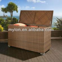 Luxury Outdoor Garden Brown Rattan Storage Box