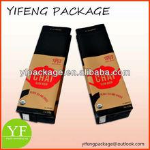 Coffee Tea Bags/plastic laminated coffee tea bag/side gusset coffee tea bags
