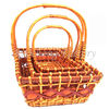 Wholesale Christmas Cheap Rectangular Basket with Handles,YB0106