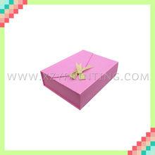 Customize printing pink cardboard box