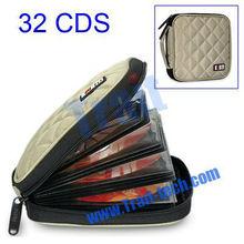 Cheapest Nylon CD Bag 32 CDs DVD Wallets Disk Holder Case Disc Organizer