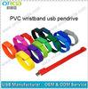 PVC wristband usb memory flash disk,cheap wristband usn pen drive
