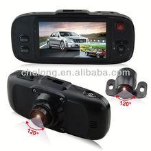 5M CMOS wafer 2.7inch dual lens google maps and g-sensor car black box