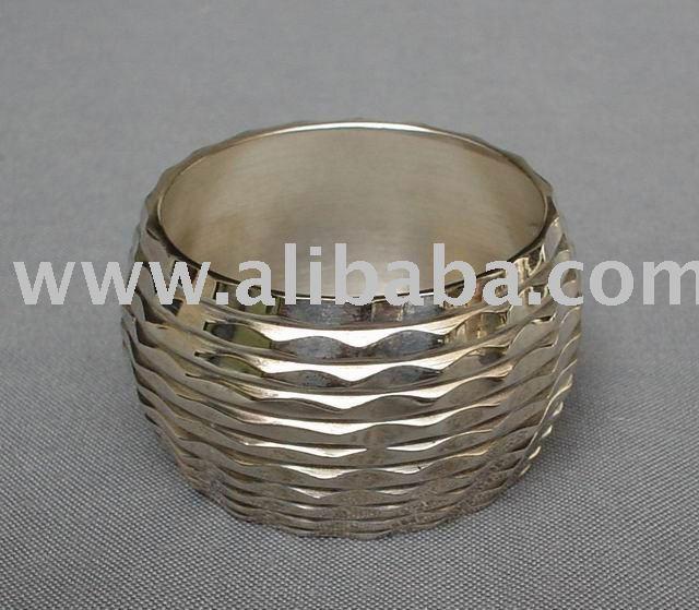 Elenco latão Metal guardanapo anel polido