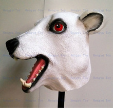 2015 Hot Selling Adult Size High Quality Celebrations Carnival Party Fancy Dress Costume Rubber Bear Mask