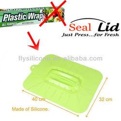 Silicone Cup Sealer,Set of 4,Keeps Food Fresher Longer.