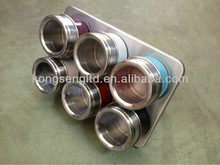 stainless steel magnetic cruet set