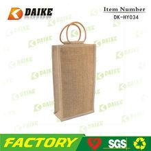 Jute Custom High Quality personalized wine gift bags DK-HY034
