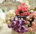 2013 venda quente mini flor de seda artificial, mini rose+pot