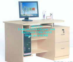 K/D melmained MDF/chipboard/plywood cheap wood computer desk table