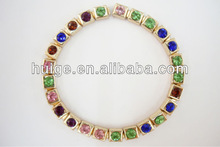 Colourful Crystal Square Chain Jewelry