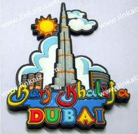 dubai tower fridge magent souvenir/rubber fridge magnet travel on dubai tower