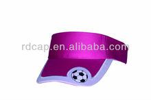 sports football sun visor cap with embroidery