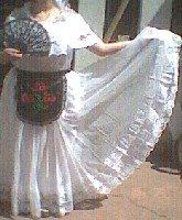 Veracruz Adult Mexican Folklorico Wedding Dress