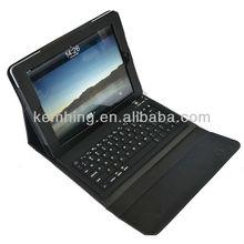 for iPad bluetooth keyboard case, keyboard leather case for ipad2/3/4