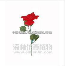 Beuatiful high imitation hot sale plastic rose flower, artificial flowers ,perfect decoration