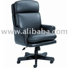 Black Leather Executive High Back Office Chair Office