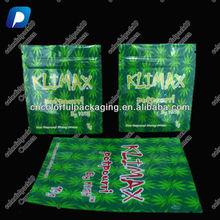 Empty klimax herbal bag 10 gram/klimax potpourri bags 3g 10g