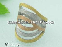 New Model Three Stone Stainless Steel Men Finger Ring