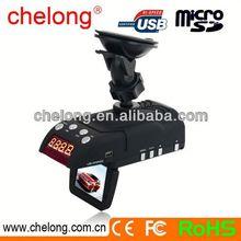 2.0inch Radar detector gps navigation car black box 2 channel