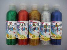 Colorful fabric glitter glue pen/stationery glue