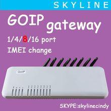 audio over ip/GOIP gateway 8 port