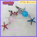 Crystal Starfish Earphone Cell Phone Jack Dust Plug #S34