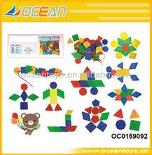 Hot Sell plastic tangram(104pcs button + 4pcs lines)OC0159092