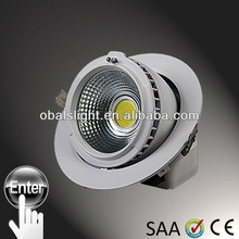 new product 2013 innovative office products 20W COB LED downlight adjust 60 degree for shop with Cree