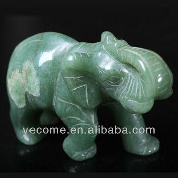 Feng Shui Stone Aventurine Elephant
