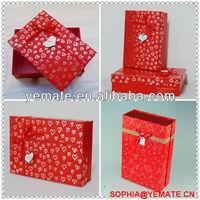 Alibaba Espanol Caja de embalaje de carton de encargo de lujo con el logo e impresion -COLOR ROJO