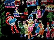 Nakshi Kantha-Hand Stitched Decorative Wall Hanging