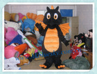 bs2013 black dinosaur movie character costume for kids play
