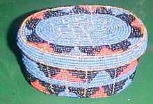 Oval Beaded Box