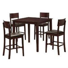Walker Edison TW40PBES Stanley 5-Piece Wood Pub Table set