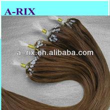 "20"" Loop Micro Ring 100% Remy Human Hair Extensions, 1 Gram/Strands, Grade AAA"