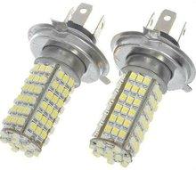 Xenon White H4 H7 Car 102 LED SMD Bulbs Fog Day Lights 12V Fog lamps Taillights