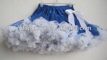 white blue baby girl fluffy pettiskirts girl's tutu skirts