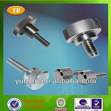 OEM various slotted aluminum thumb screw,knurled thumb screw