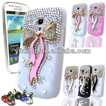 FOR SAMSUNG GALAXY S3 MiNi i8190 LUXURY 3D CRYSTAL DIAMOND BLING MOBILE PHONE CASE DIAMANTE COVER